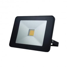 LED FLOOD LIGHT 50W BEWEGINGSMELDER ZWART, NEUTRAALWIT